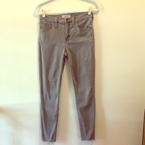 Madewell raw hem high rise jeans